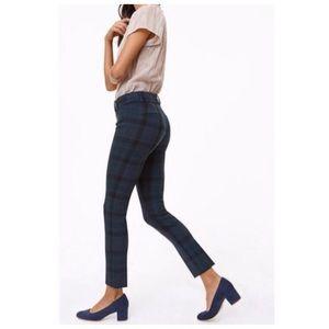 LOFT Pants - LOFT Marisa plaid pants